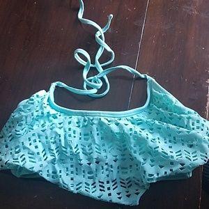 Teal Bikini top